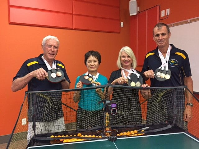Kelowna 55+ table tennis club members win Gold, Silver and Bronze at Vernon 55+ BC Games
